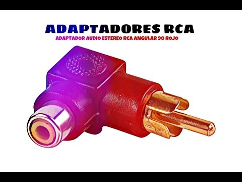 Video de Adaptador audio estereo RCA angular 90  Rojo