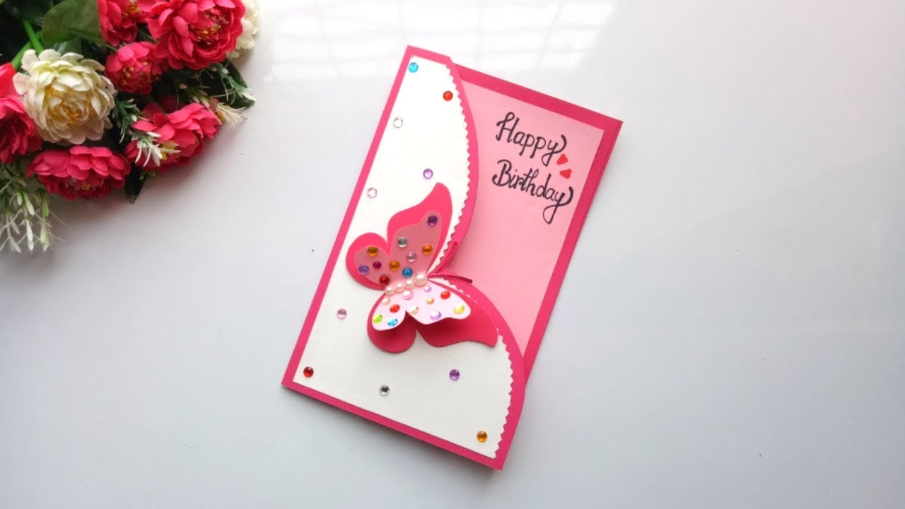 Beautiful Handmade Birthday Card Idea -DIY GREETING Cards