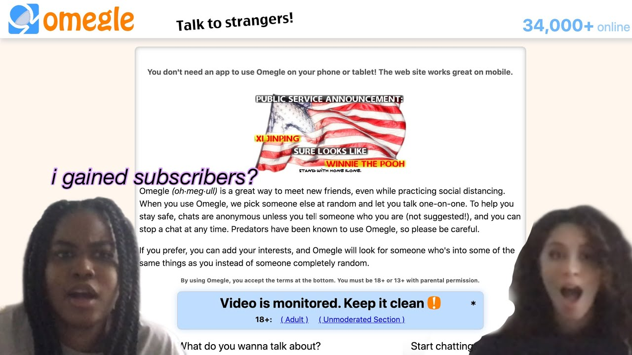 Keep clean monitored it is video omegle Omegle for