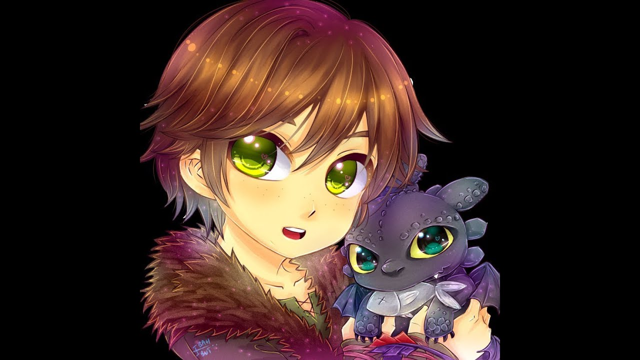 colouring hiccup and baby toothless speedpaint  youtube