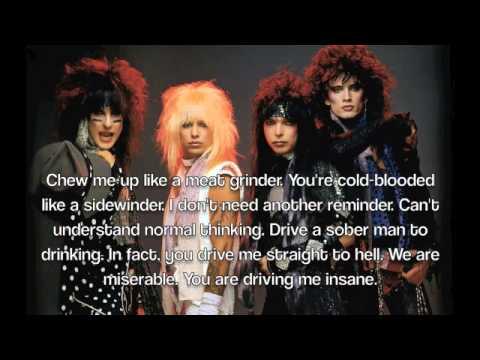 Sick Love Song by Motley Crue Lyrics