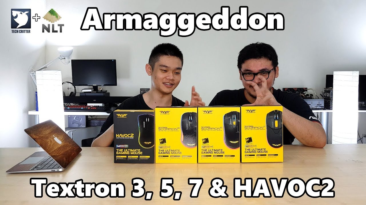 Unboxing & Overview: Armaggeddon Textron Scorpion 3, 5, 7, & HAVOC 2 Gaming Mice