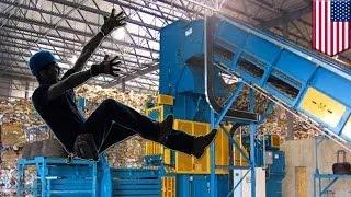 عامل تكرير يلقى مصرعه بشكل مريع بعد أن سقط في آلة الكرتون المضغوط