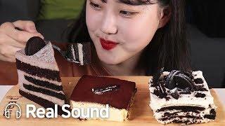 케이크 JMT 투썸플레이스 조각케이크 3종 🍰(모어댄쿠키앤크림/티라미수/아이스박스) 리얼사운드 먹방 (Eng sub) Dessert Cake Realsound Mukbang