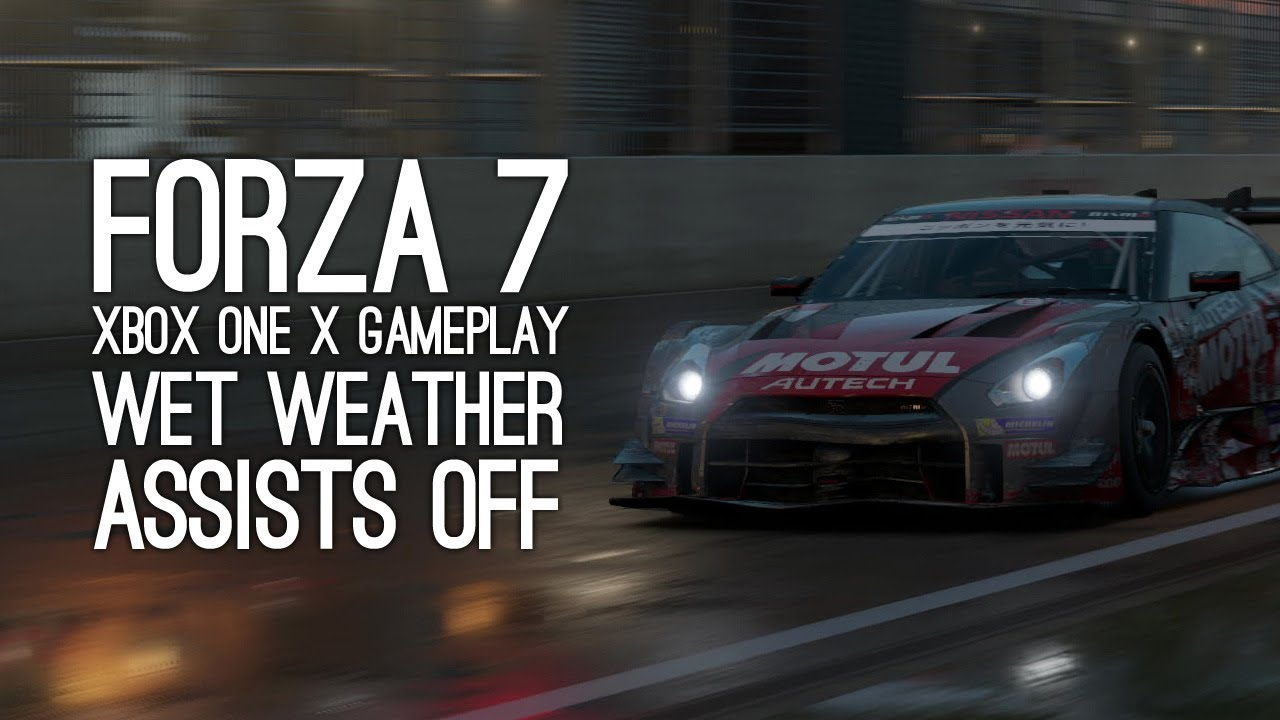 forza 7 xbox one x gameplay wet weather assists off. Black Bedroom Furniture Sets. Home Design Ideas