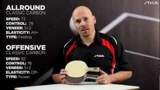 STIGA blades Offensive Classic Carbon & Allround Classic Carbon