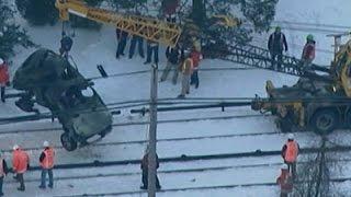 Raw: Suv Removed From Ny Train Tracks