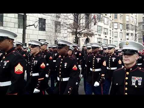 St. Patrick's Day Parade~NYC~2012~ Marine Corp march up 5th Ave.~NYCParadelife