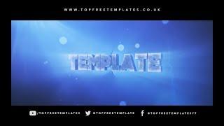 FREE Blue Rap AE & C4D Intro Template #762 + Tutorial