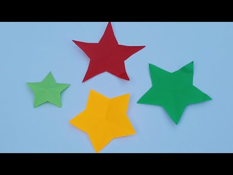 How to make simple & easy paper star one cut,Christmas star paper  making,paper star craft ideas