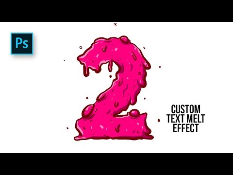 How To Create Custom Text Melt Effect In Photoshop - #Photoshop Tutorials