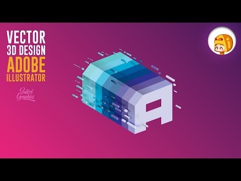 Illustrator FUNKY 3D Shape Tutorial | Satori Graphics