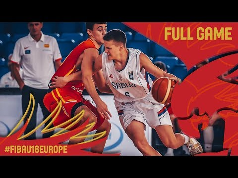 Serbia v Spain - Full Game - Quarter-Final - FIBA U16 European Championship 2017