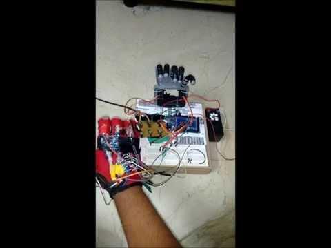 Robotic Arm control using data glove