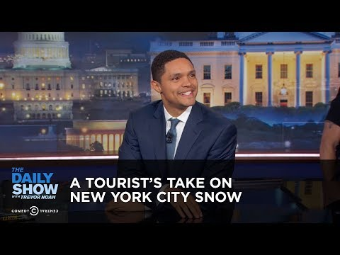 A Tourist's Take on New York City Snow - Between the Scenes: The Daily Show