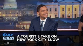 A Tourist's Take on New York City Snow - Between the Scenes: The Daily Show thumbnail