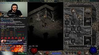 Diablo 2 - Hell Sorceress SC Speedrun - PB #2! - 4:56:59