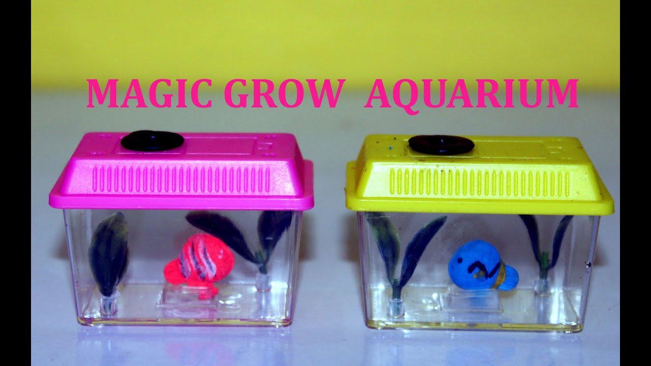 Watch Your Fish Grow Magic Grow Aquarium Toy Kids Toys Collector