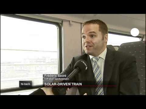 euronews hi-tech - Belgium launches Europe's first solar train