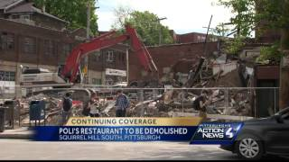 Building demolished after Squirrel Hill business district fire