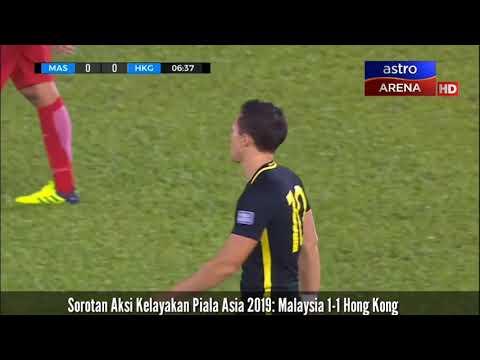 Highlights Malaysia(1)vs(1) lwn Hong KongAFC Asian Cup 2019