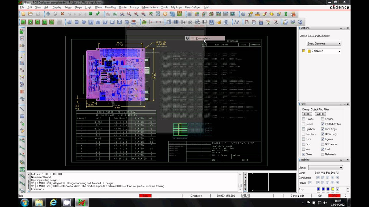 OrCAD How-To - NC Drill Output Tutorial Cadence OrCAD Allegro - YouTube
