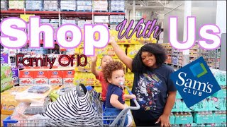 HOW A SINGLE MOM SHOPS FOR A FAMILY OF 10!| SAMS CLUB SHOP WITH ME