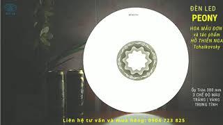 Đèn trang trí Hoa Mẫu Đơn - Đèn Led Ốp trần Peony 24W 3 chế độ - Đèn Led Sài Gòn, Tiền Giang Long An