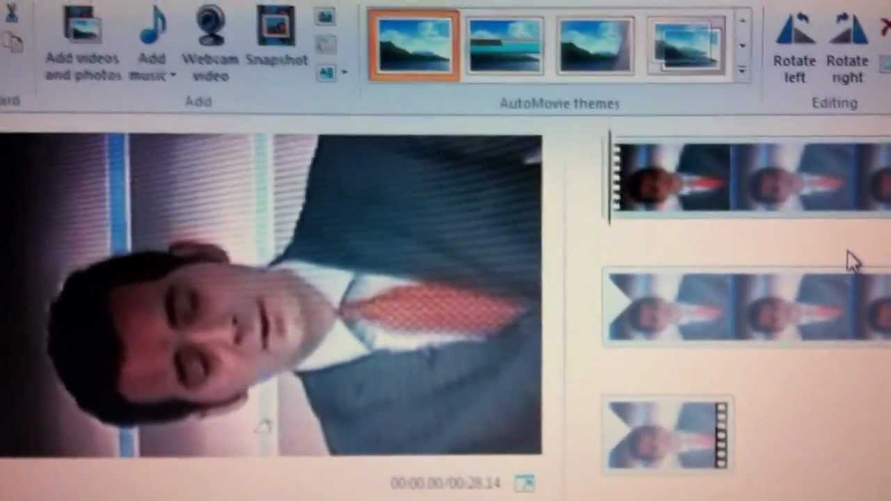 how to rotate a video in windows live movie maker