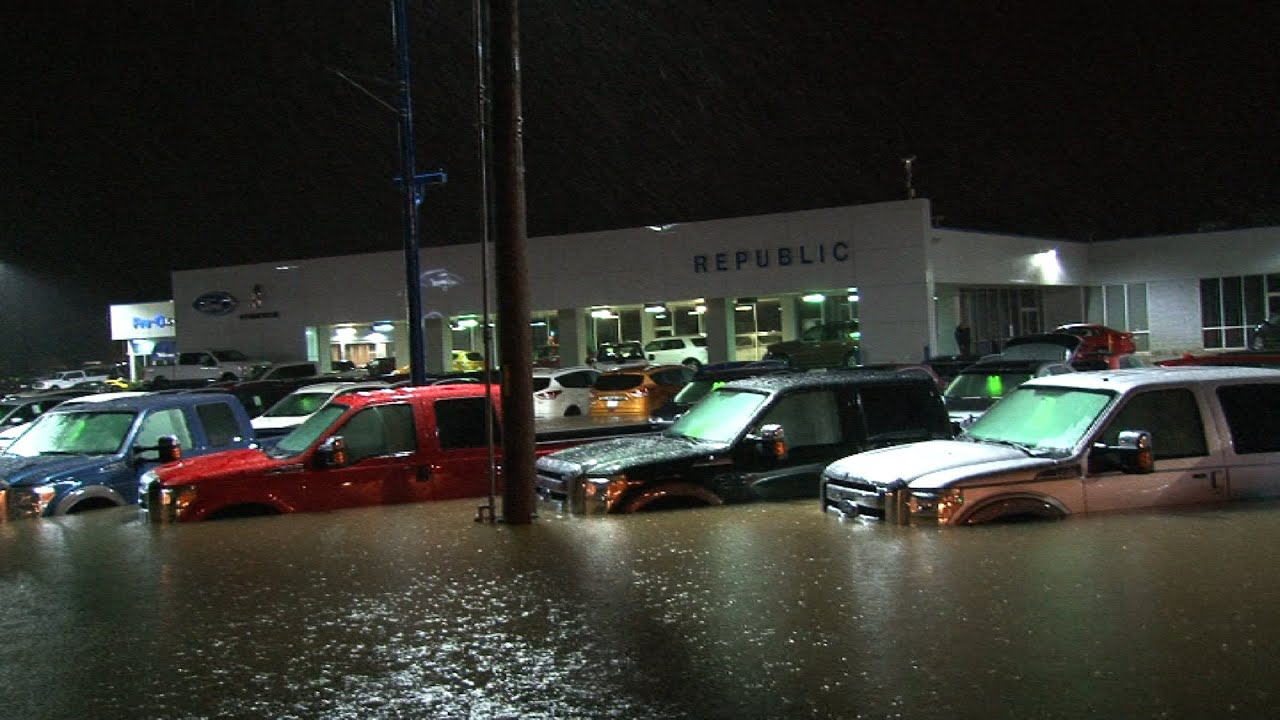 Houston Ford Dealers >> Epic Ford Dealership Flood Youtube