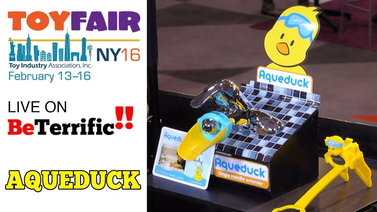 Aqueduck Faucet Extender on BeTerrific at Toy Fair 2016! - YouTube