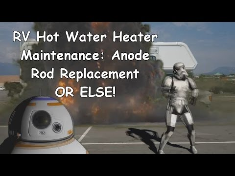 RV Suburban Hot Water Tank Maintenance Anode Rod Replacement