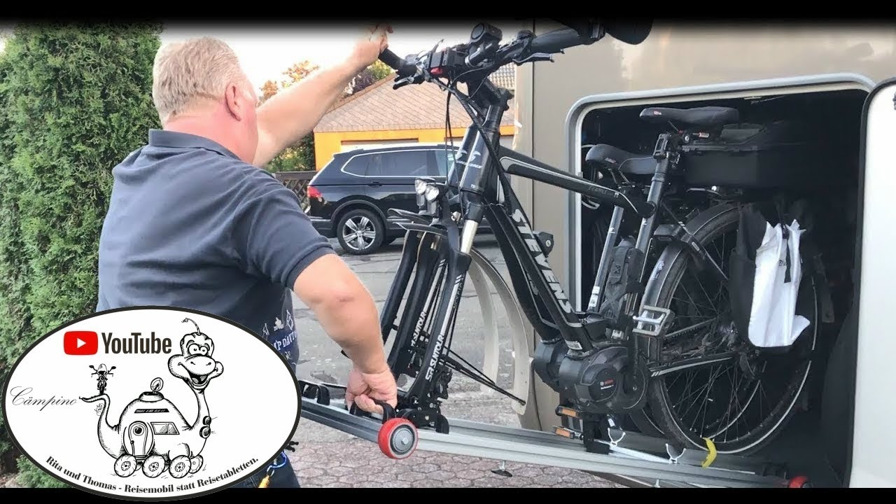 Wohnmobil- Tuning: Fahrradträger und Kurbelschutz