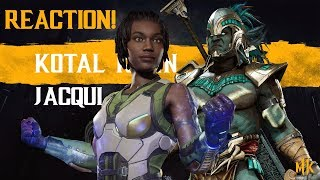 MORTAL KOMBAT 11 JACQUI BRIGGS TRAILER REACTION! - KOTAL KAHN HYPE! OMG!