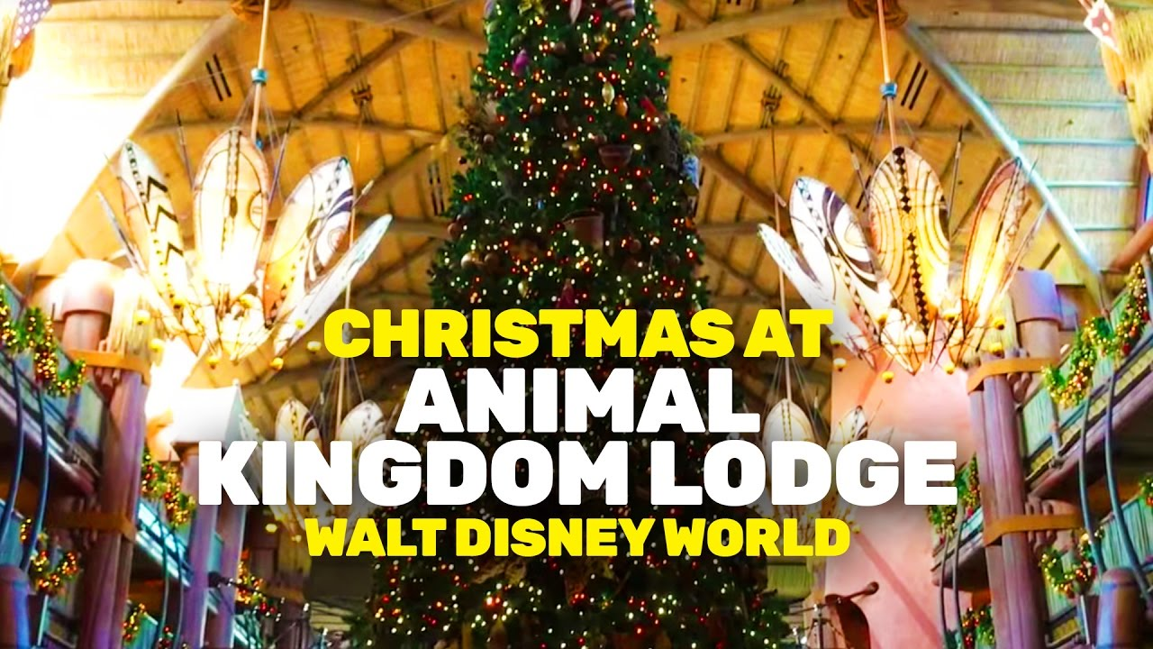 Christmas At Animal Kingdom Lodge 2016 Walt Disney World Youtube