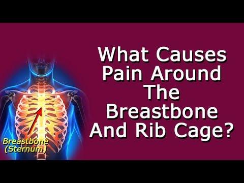 Sharp pain behind left breast bone