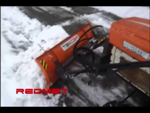 Ganz und zu Extrem Schneeschild 130cm hydraulisch für Kleintraktoren kubota iseki &FJ_58