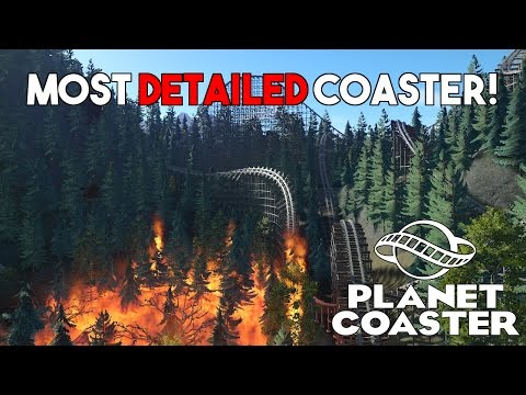 THE MOST DETAILED ROLLER COASTER EVER! | Planet Coaster