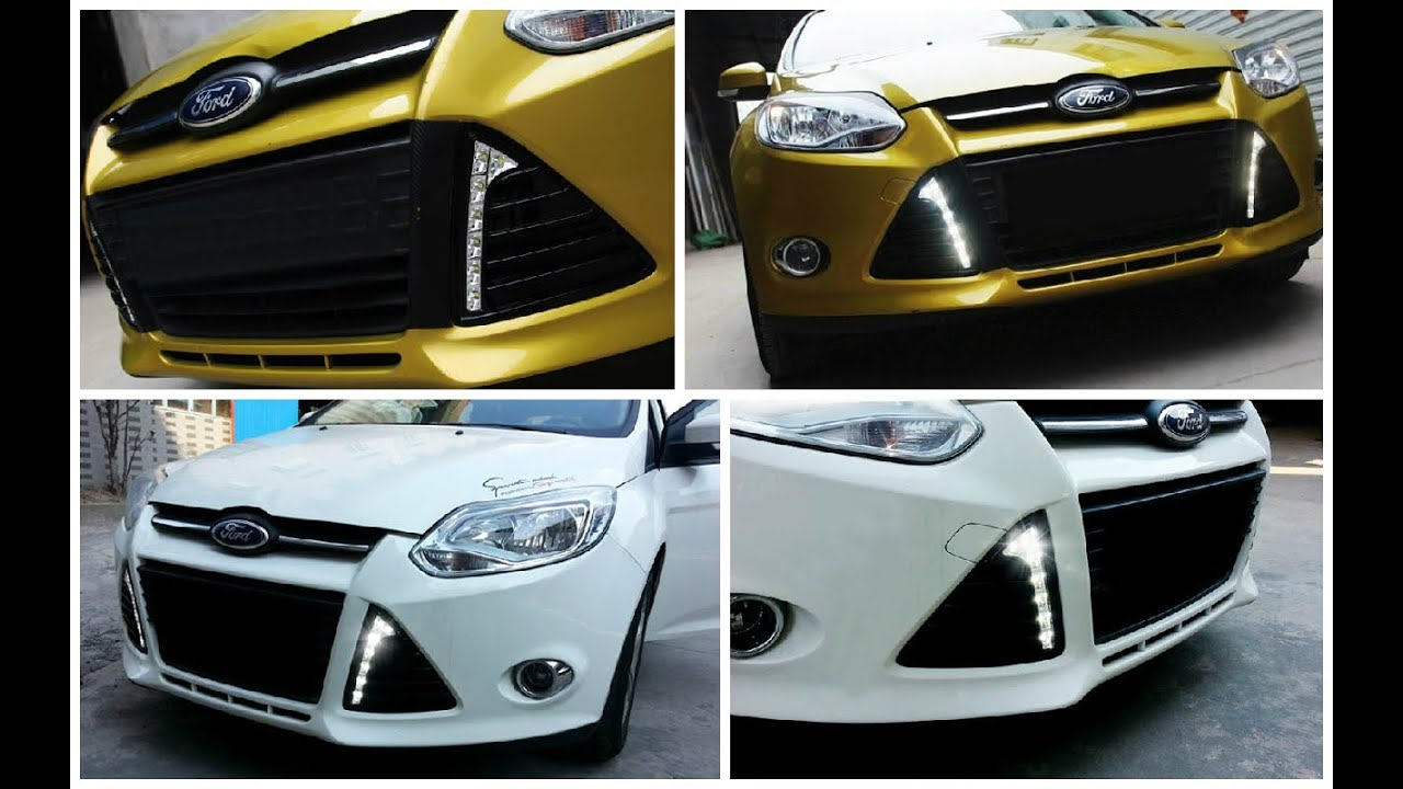 2012 2014 Ford Focus Led Daytime Running Lights Youtube