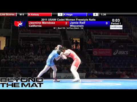 Cadet Women Final 132 pounds - Jasmine Mendoza (CA...