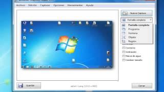 tutorial como hacer una captura de pantalla pc con WinSnap