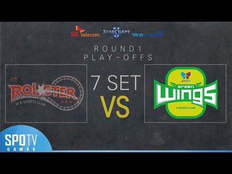 [SPL2016] 1R Playoff Match2 (Jin Air) vs (KT) Set7 Dusk Towers -EsportsTV, Starcraft 2
