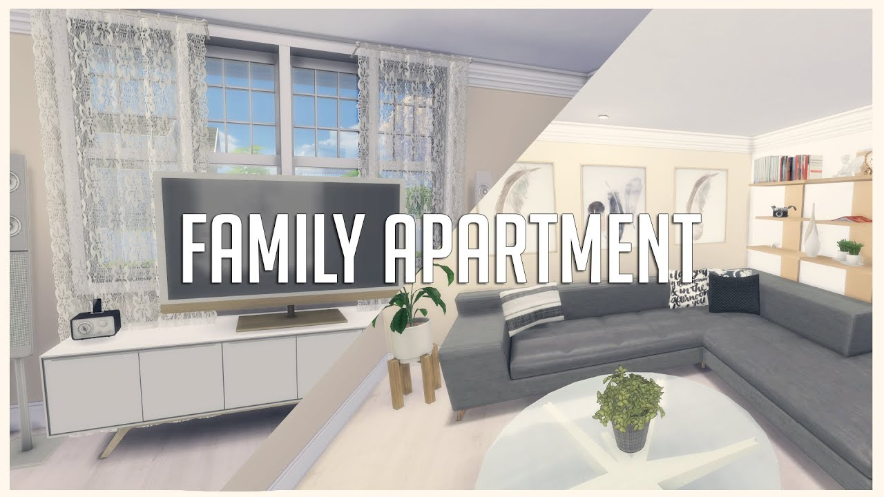 The Sims 4: House Build | Family Apartment - YouTube