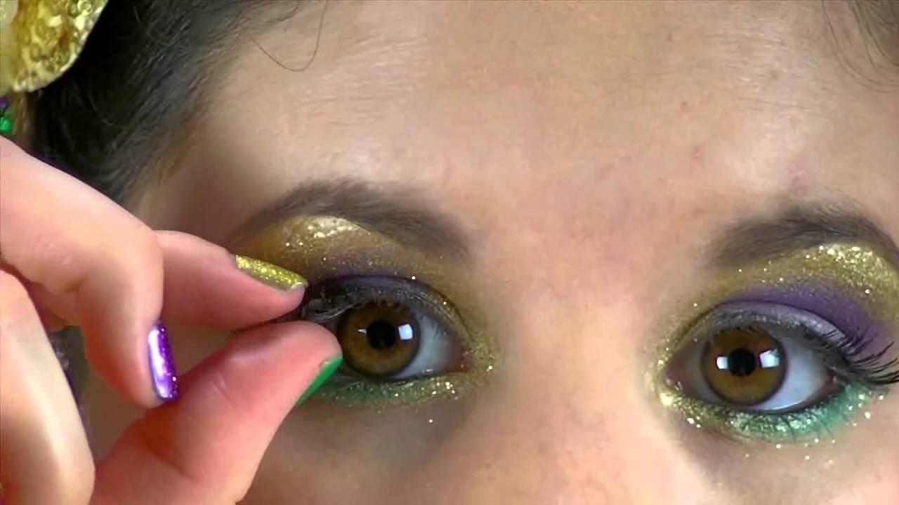 Festive Mardi Gras Parade Makeup Youtube