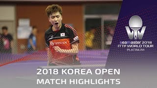 Jeoung Youngsik vs Peng Wang Wei | 2018 Korea Open Highlights (Pre)