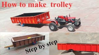 How to make tractor trolley at  home
