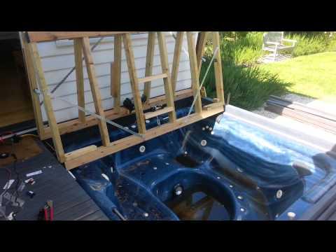Bifold deck spa cover 12v winch