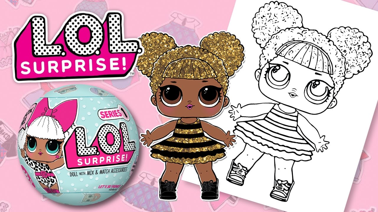 Lol Surprise Doll Queen Bee Coloring Book Pages For Kids Youtube