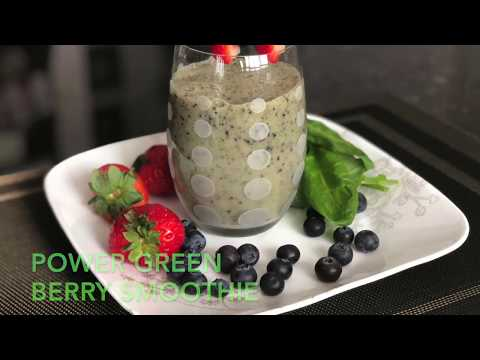 power-green-berry-smoothie|weight-loss-smoothie-|green-smoothie