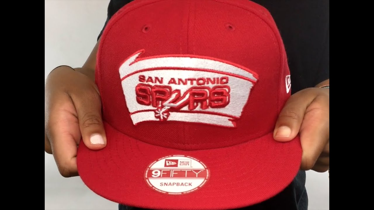 8451166ca001a8 Spurs 'TEAM-BASIC SNAPBACK' Red-White Hat by New Era - YouTube